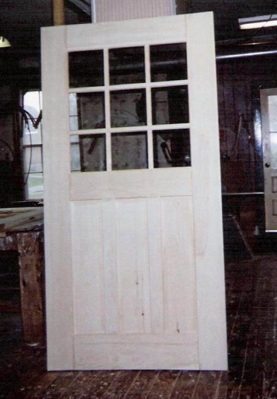Custom built wood exterior doors; Entryway, Arch top, Reproduction