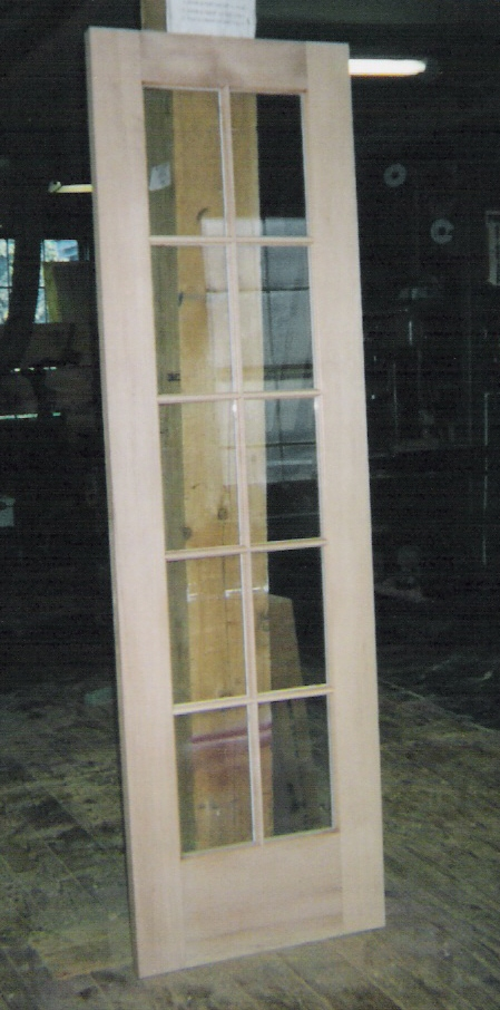 Custom made interior solid wood doors french arch top for Single glass french door
