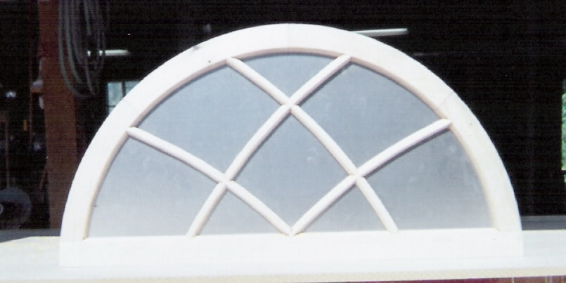 arch top windows  custom built wood sashes  traditional  historical  storms  screens