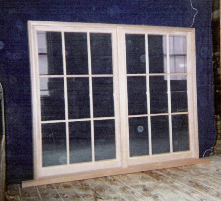 Custom Made Wood Windows : Wood windows custom built fix sliding picture storm